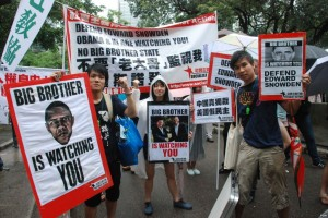 Protest in support of Edward Snowden, Hong Kong