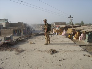 A British soldier in Sangin