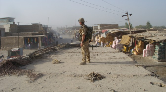 A British soldier in Sangin