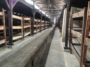 Interior of Auschwitz hut
