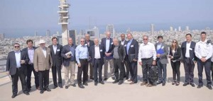 HLMG delegation at Israel's Ministry of Defense overlooking Tel Aviv, Israel. Picture: HLMG