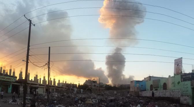 Air strike in Sana'a, 11 May 2015