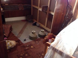 Explosive devices found near a baby's cot, Gaza, 2014. Photo: IDF Blog