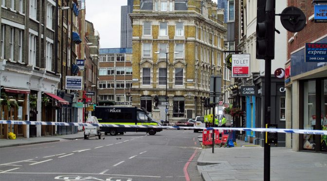 Borough High Street following the terrorist attack on 3 June